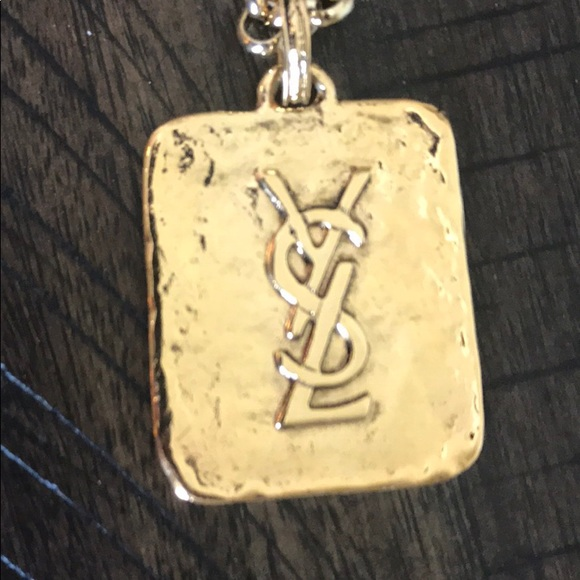 644ca7fca29 Vtg Yves Saint Laurent 'YSL' pendant necklace RARE.  M_5b7463e25a9d2147c5b98a34